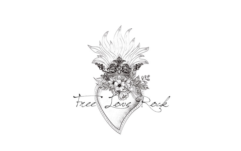 Free-Love-Rock-Logo DelphinaCphotographie