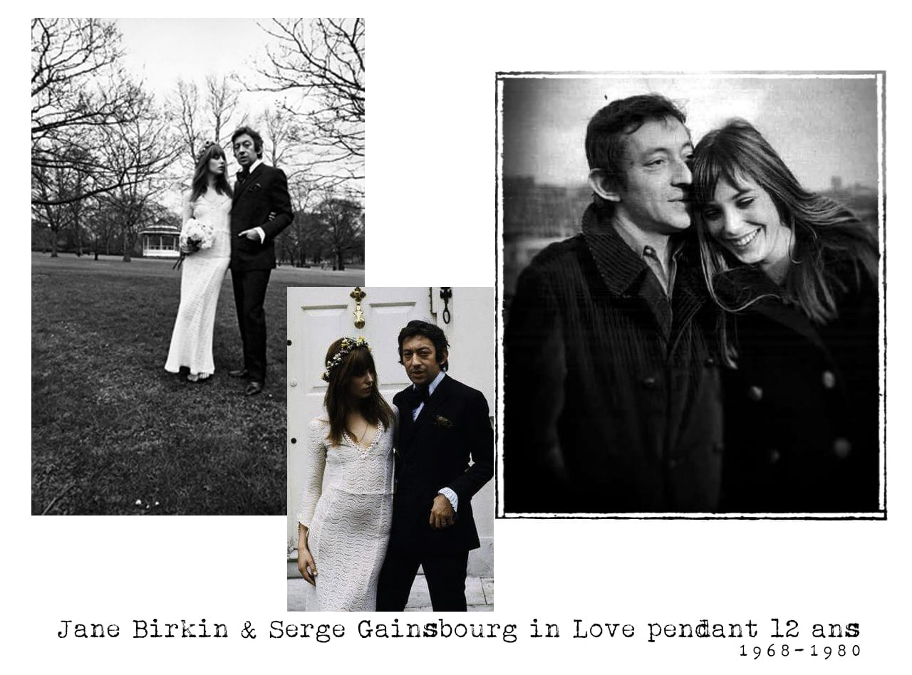couple mythique- jane Birkin et serge gainsbourg