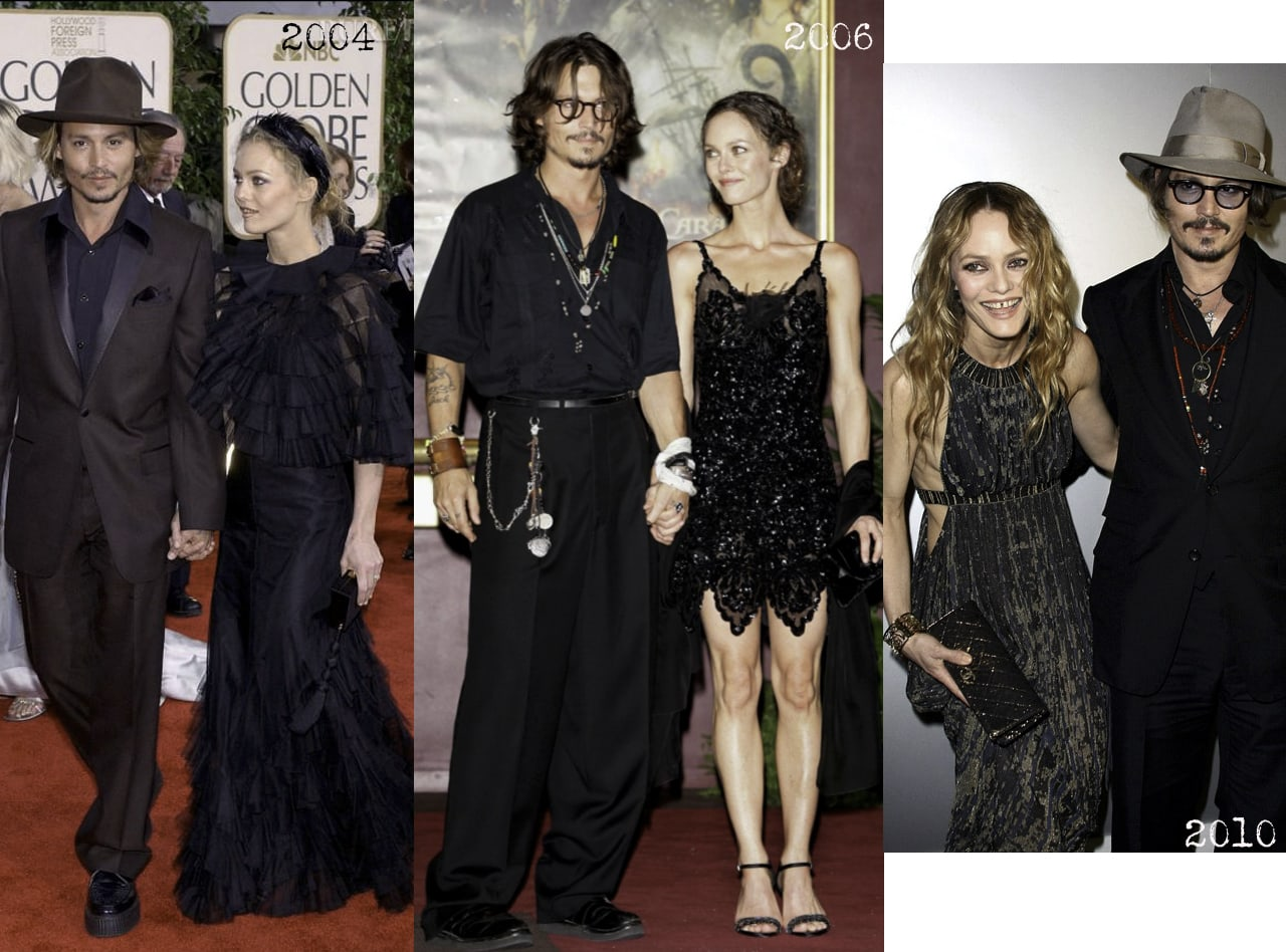 Johnny depp et vanessa paradis-couple mythique-tapis rouge