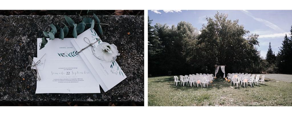 Faire-part-mariage-cérémonie laique-La gourgoulière-Delphine Closse-Photographe