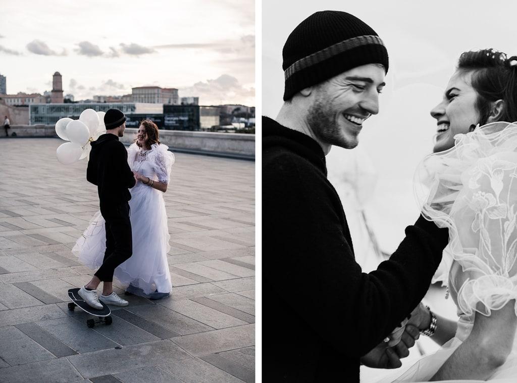 Couple moderne à Marseille