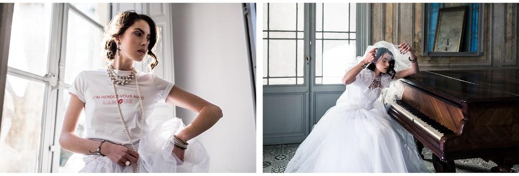 Une robe de mariée éco-responsable -  inspiration madonna- blog photographe Delphine Closse