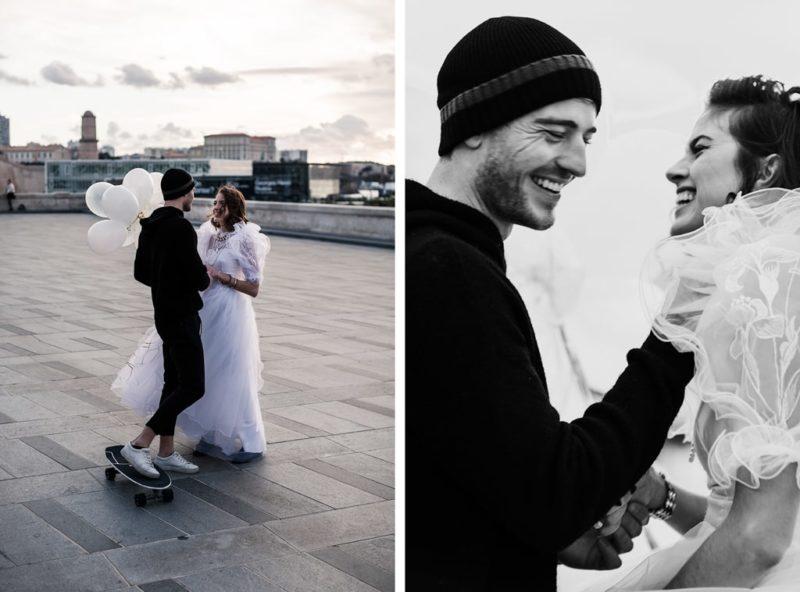 robe de mariée éco-responsable-inspiration Madonna- Marseille-Delphine Closse photographe