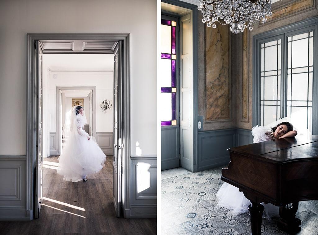 Piano au Domaine de Toursainte - une robe de mariée éco-responsable - blog photographe Delphine Closse