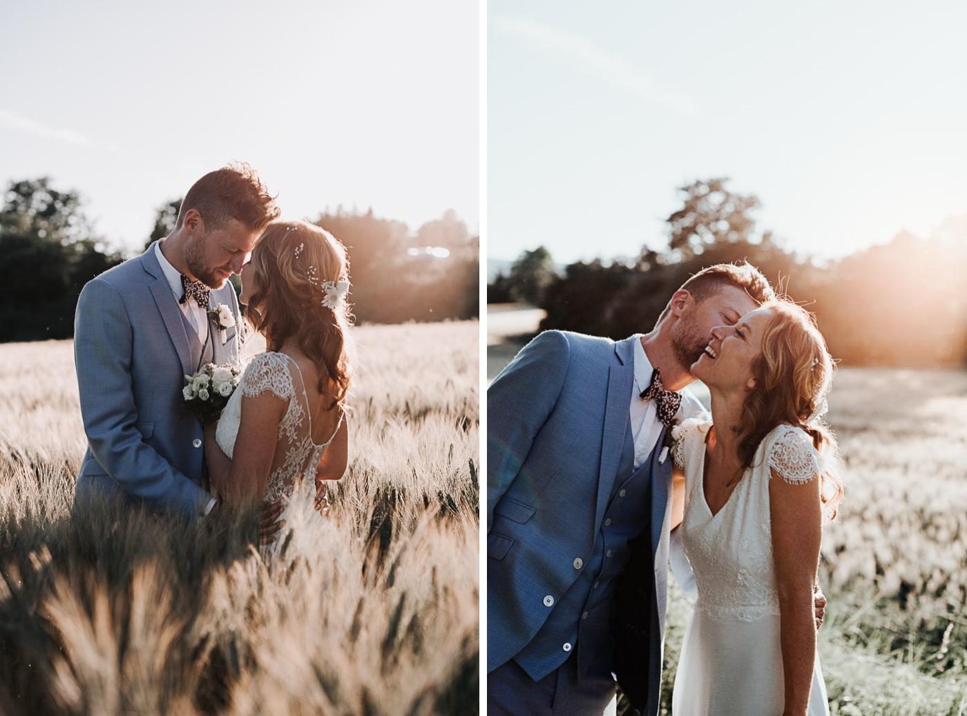 séance photo de couple de mariés modernes au chateau du Griffon-Delphine Closse