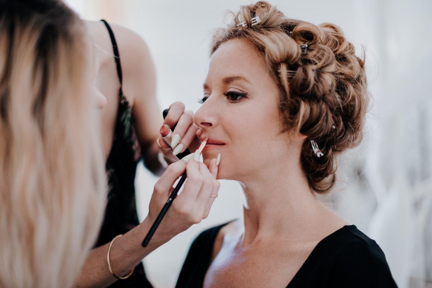 make up et coiffure par Charlene Dolo au chateau du Griffon-Delphine Closse