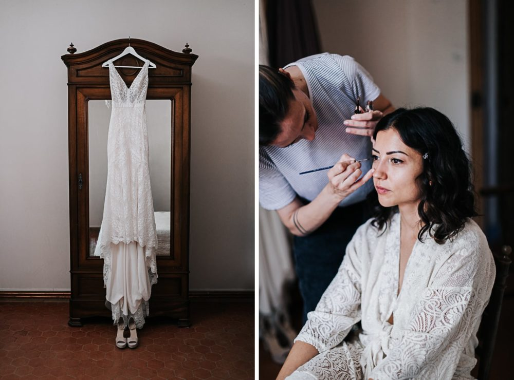 Préparatifs-Mariage bohème au domaine du Taleur à Avignon-Delphine Closse