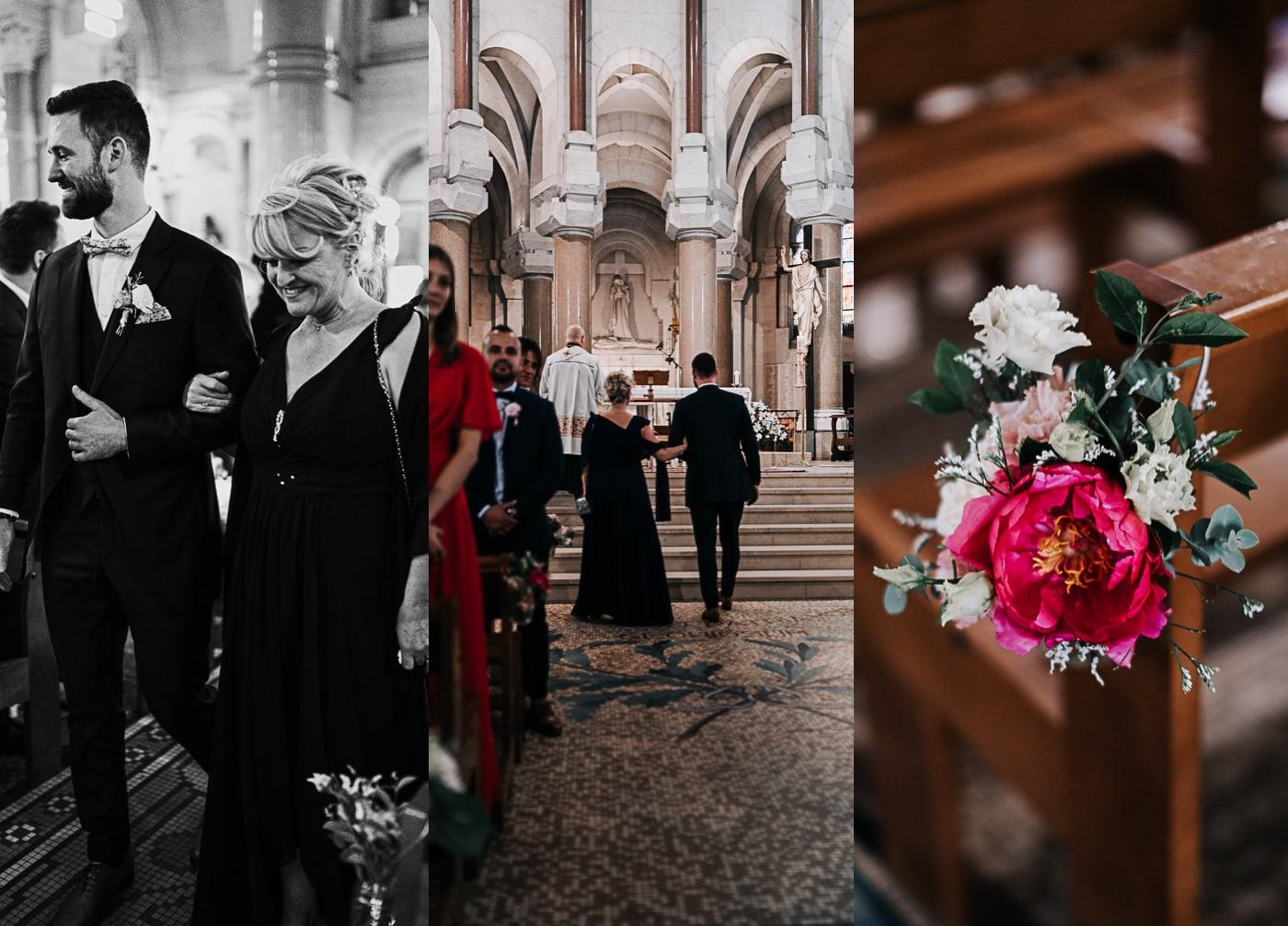 Triptique mariage à la basilique du sacré coeur de Marseille-Delphine Closse