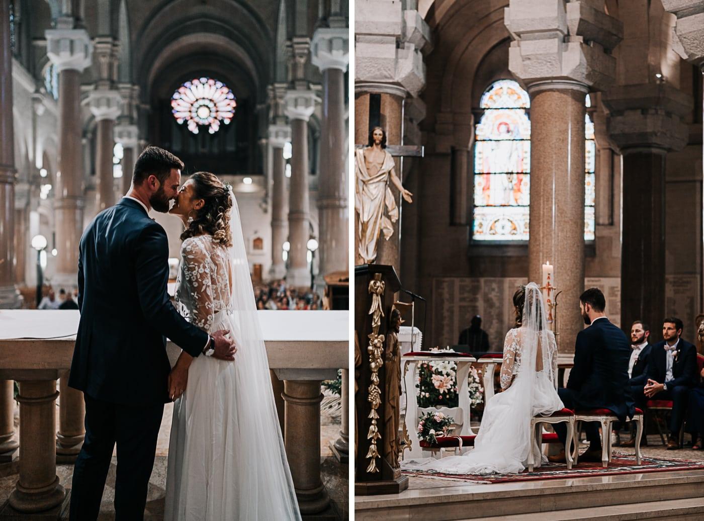 Diptique mariage à la basilique du sacré coeur de Marseille-Delphine Closse