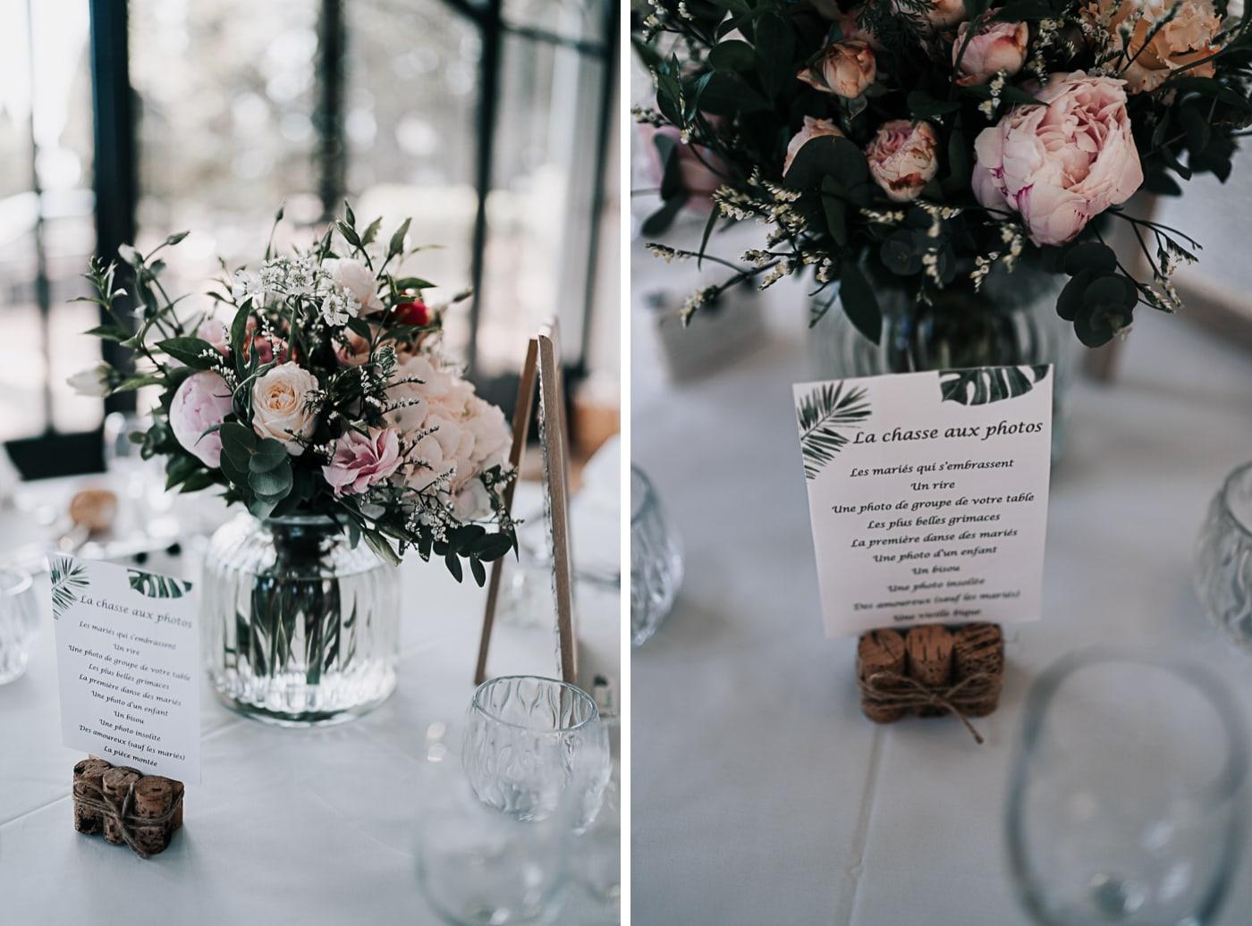 Diptique décoration de table mariage au domaine de la Baratone-Delphine Closse