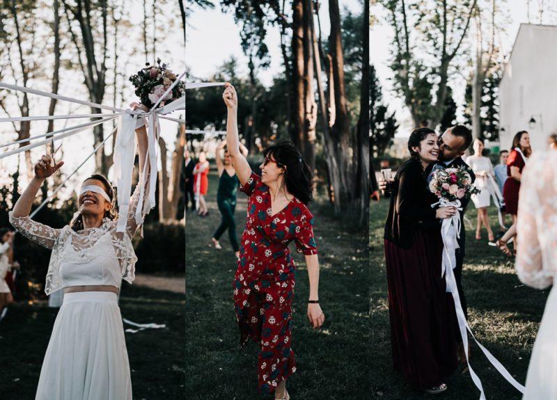 Jeu des rubans-bouquet de la Mariée-Mariage au domaine de la Baratone-Delphine Closse