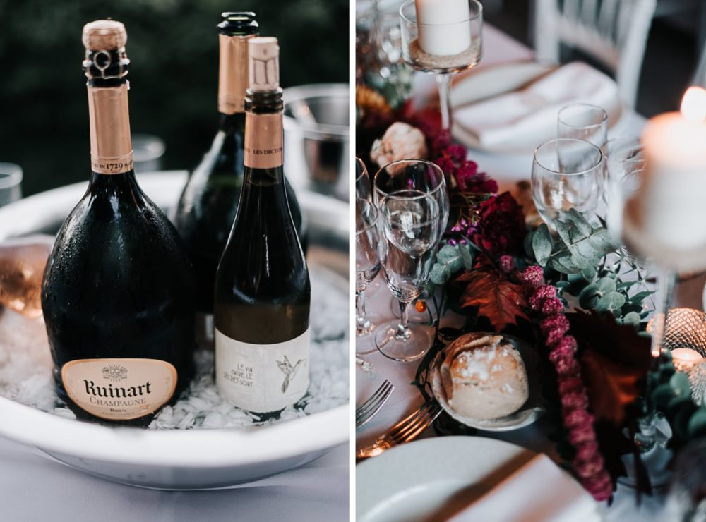Cocktail et soirée au Champagne Ruinard-décoration Florale par L'arrosoir de Margaux