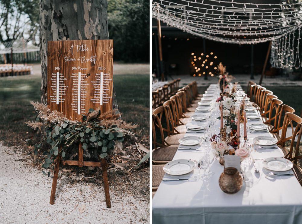 Déco table-Mariage bohème au domaine du Taleur à Avignon-Delphine Closse