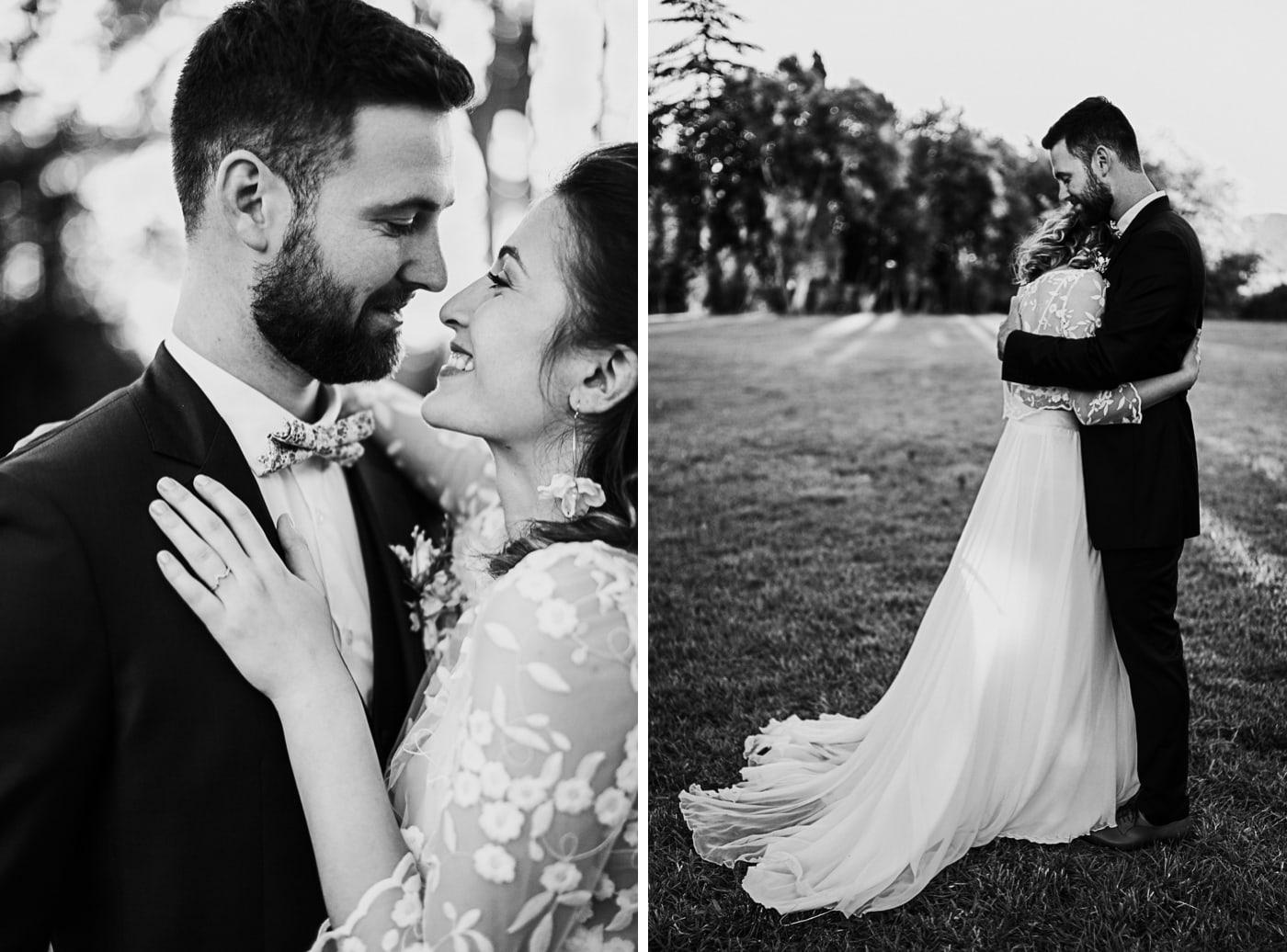 Séance photo de couple de mariage au domaine de la Baratone-Delphine Closse