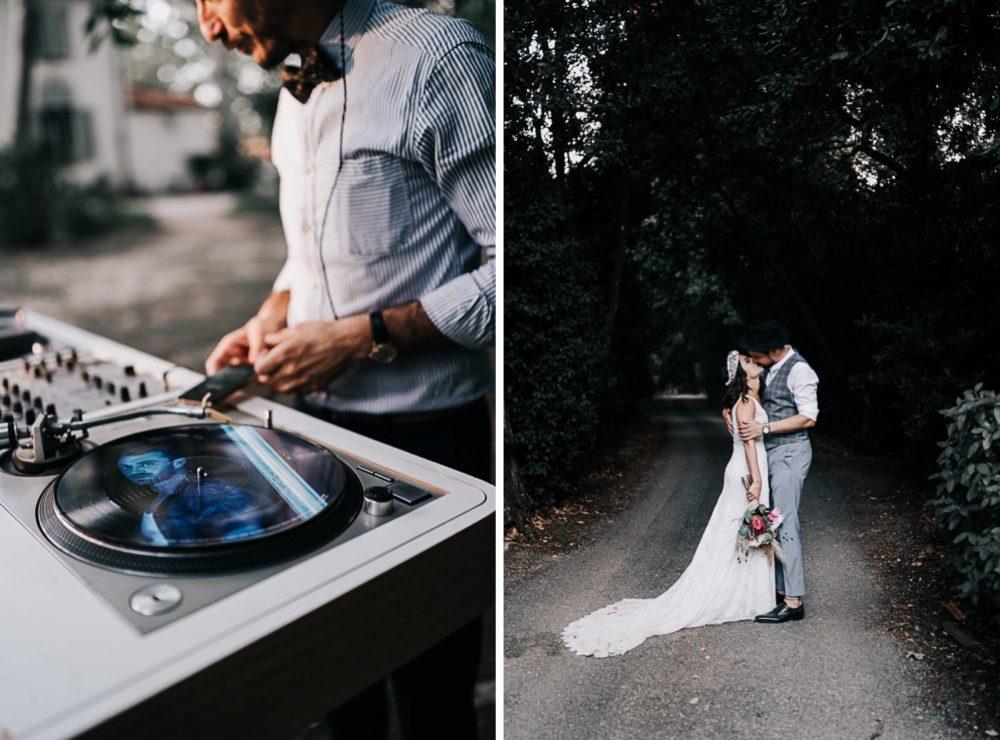 DJ vinyl-Mariage bohème au domaine du Taleur à Avignon-Delphine Closse