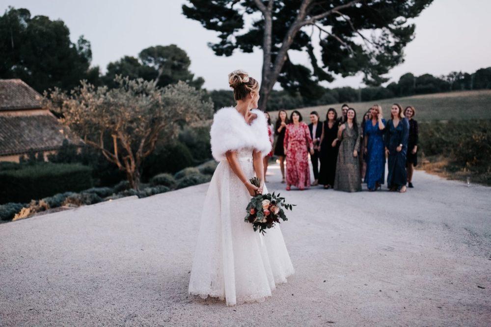 lancer du bouquet-Mariage au château Latour Vaucros-Delphine Closse
