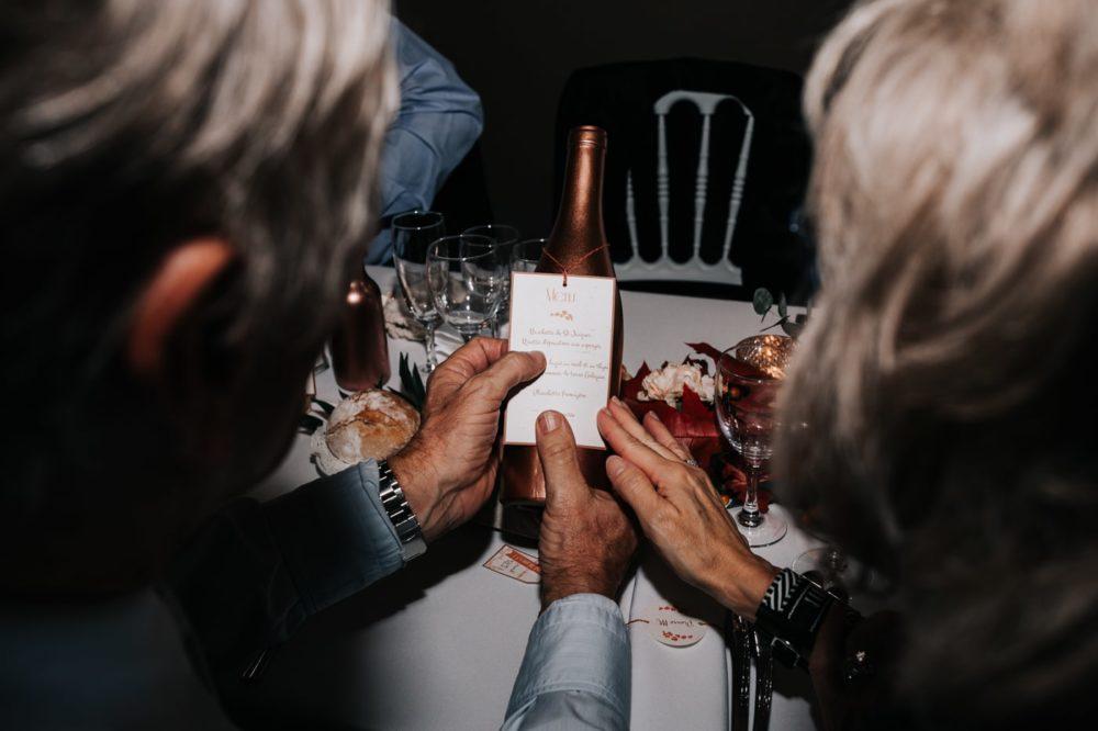 Menu du repas-Mariage au château Latour Vaucros-Delphine Closse