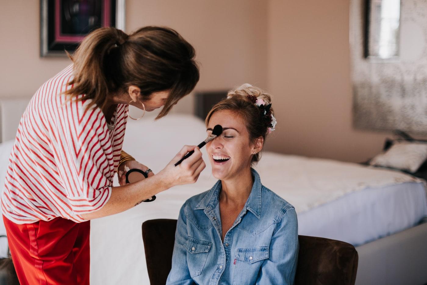 Make up maquillage mariée-Mariage au château Latour Vaucros-Delphine Closse