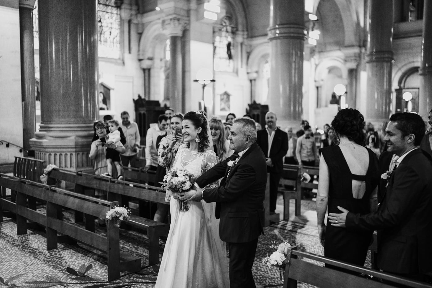 mariage à la Basilique du sacrée coeur de Marseille-Delphine Closse