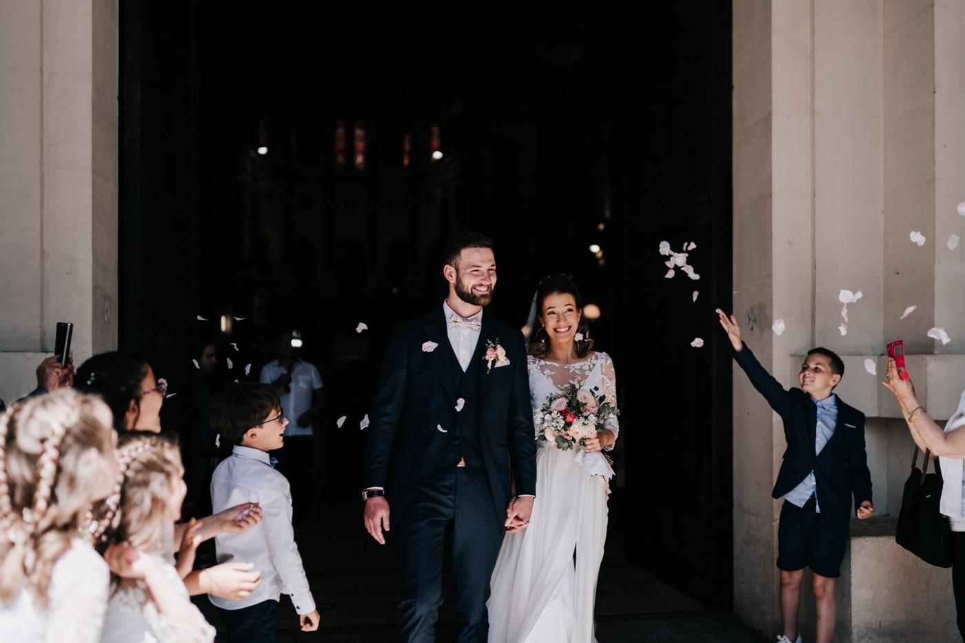sortie mariage à la basilique du sacré coeur de Marseille-delphine Closse