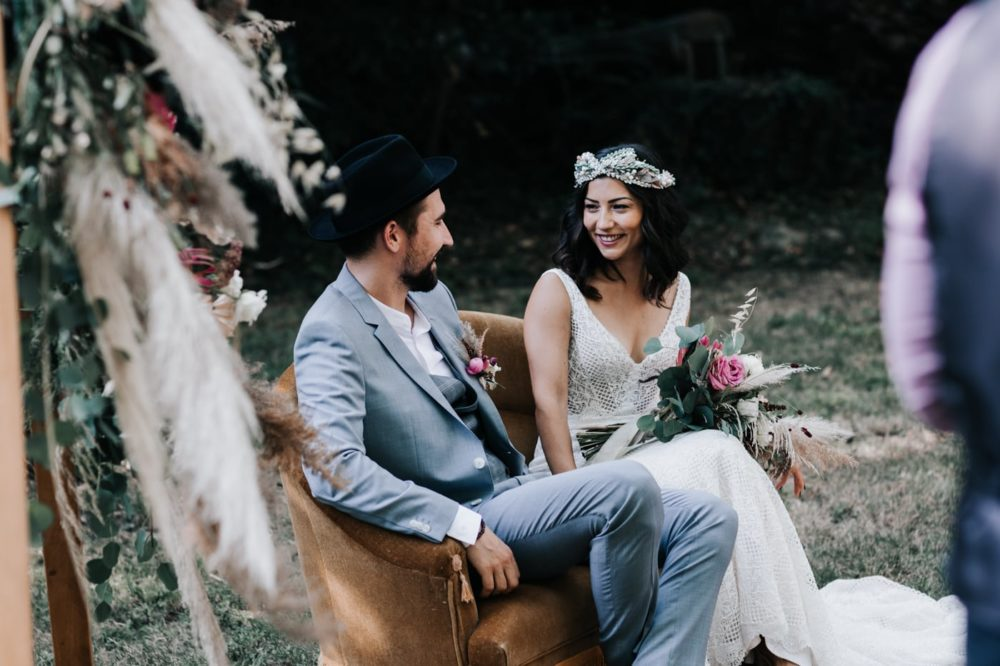 Mariés bohème gypsy-Mariage bohème au domaine du taleur-Avignon-Delphine Closse