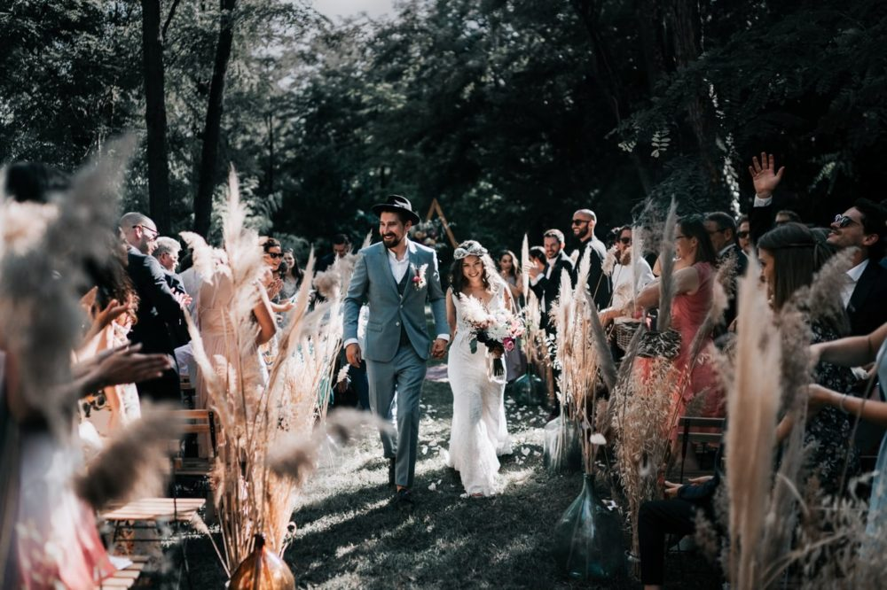 sortie cérémonie laique bohème gypsy-Mariage bohème au domaine du taleur-Avignon-Delphine Closse