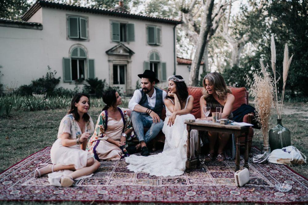 Cocktail-mariage Gypsy-Mariage bohème au domaine du taleur-Avignon-Delphine Closse