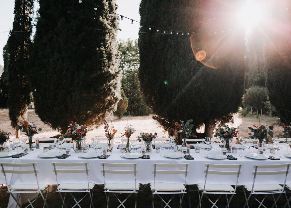 Décoration de table mariage par Virginie D'Alessio à Toulon-mariage Cadière D'Azur- Domaine de Rochebelle #freeloverock-Delphine Closse
