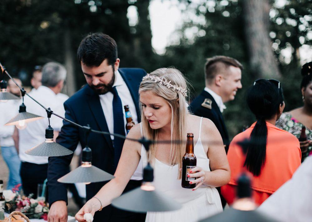 Mariage et bière du monde-Décoration de table mariage par Virginie D'Alession à Toulon-mariage Cadière D'Azur- Domaine de Rochebelle #freeloverock-Delphine Closse