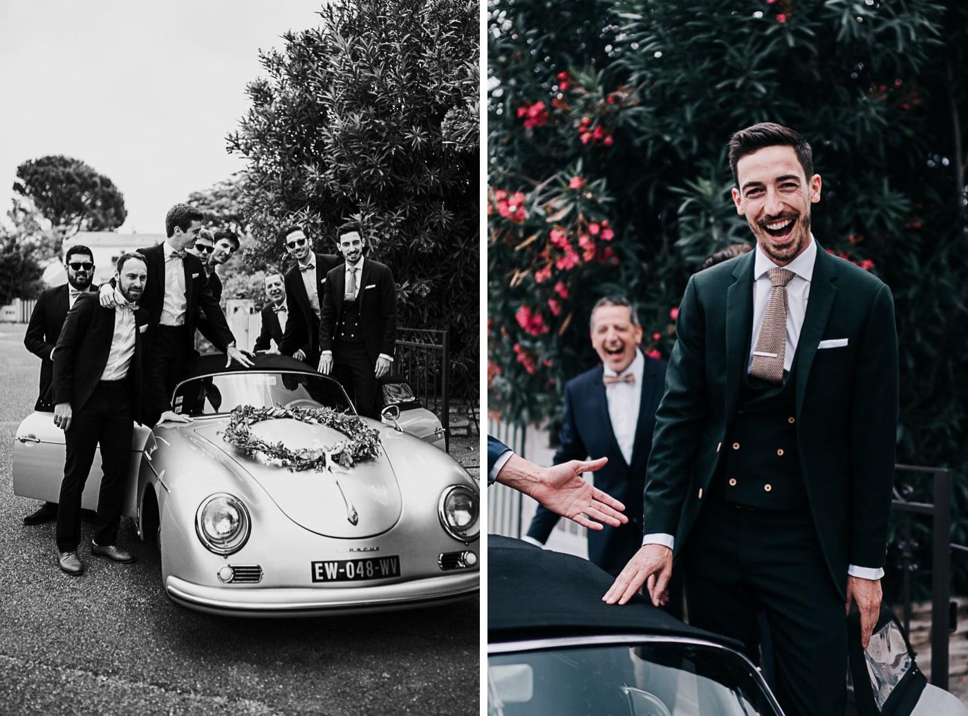 Garçons d'honneur et Porsche-Mariage Sophie&Paul-Domaine du Taleur-Delphine Closse